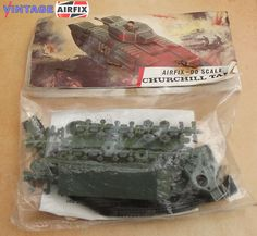 Airfix Churchill Tank. Look they came in bags in those days. At least you could see what you were buying.