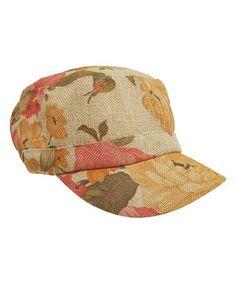Look at this #zulilyfind! Pink & Yellow Linen Baseball Cap #zulilyfinds