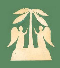 Hans Christian Andersen, paper cut. http://www.yekibud.es/2013/12/21/el-abeto/