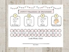 INSTANT DOWNLOAD, Make potty training more fun for you and your toddler by using THIS POTTY PROGRESS CHART. Sweet and Simple Shabby Bunting