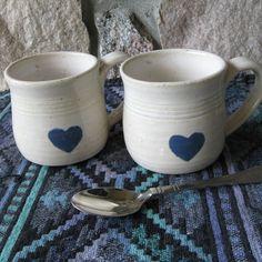 Ceramic Coffee Mug Handmade Tea Cup Pottery Stoneware Mug. $17.50, via Etsy.