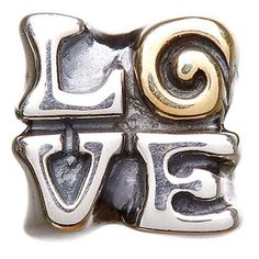 This sterling silver bead from the Tara?s Diary collection is playful and sincere, as well as heart-warming in its simplicity. The letters of ?love? fit together neatly, the swirl of the ?o? reminding its wearer of the stories behind the Celtic spiral. This piece would prove an understated yet resonant addition to a Tara?s Diary charm bracelet in either leather or sterling silver.The Celtic Spiral?s StorySpirals are present in all forms of Celtic art, from ancient manuscripts and artifacts…