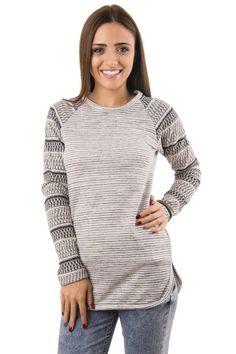 Дамска плетена блуза с дълъг ръкав