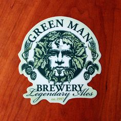 Green Man Die-cut Sticker Green Man, Die Cutting, Brewery, Modern Art, Stickers, Woman, Women, Contemporary Art, Contemporary Artwork