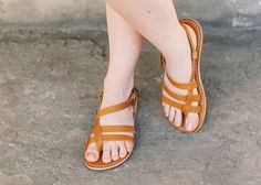 Items similar to Custom Handmade Leather Sandals - strappy - greek - roman - flat - gladiator sandals. Many colors. :) on Etsy Boho Sandals, Strappy Sandals, Summer Sandals, Flat Sandals, Two Strap Sandals, Roman Sandals, Leather Gladiator Sandals, Ancient Greek Sandals, Natural Leather