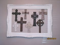 crosses--use mrs. swansons clay cross and then frame... super cool