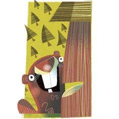 illustration of Cartoon, Humor, Animals, Character Development, Children, Children's Books, Nature, Wildlife, Lifestyle, Vintage / Retro