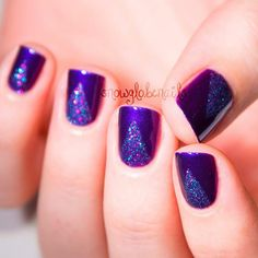 purple with glitter