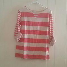 Top Pink & silver stripe top Calvin Klein Tops Blouses