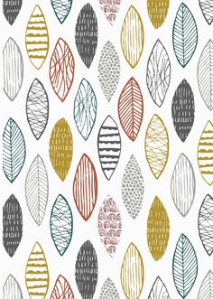 ANNA 1026. Leaves. Annali is Stephanie Thannhauser's first fabric collection for Dashwood Studio and was inspired by cool Scandi interiors and imagery. Click to view the full collection
