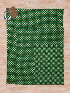 """Irish Flag Green White Orange on Green St. Patricks Day Ireland"" Throw Blanket by podartist | Redbubble"