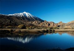 The Teide topped with icing sugar #Tenerife #landscape #teide #volcano