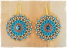 DIY Esmeralda earrings pattern. How to make от 75marghe75 на Etsy