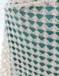 """Watch Maggie review her Santa Rosa Shawl crochet pattern! Design By: Maggie Weldon Skill Level: Easy Size: About 112"""" wide; 54"""" long (not stretched) Materials: Size 3 Crochet Cotton Thread: - Approx."""