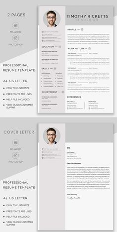 Resume template word, Modern resume template, resume writing, CV template Professional Cv Template Free, Professional Resume, Modern Resume Template, Creative Resume Templates, Cover Letter For Resume, Cover Letter Template, Graphic Design Company, Graphic Design Inspiration, Cv Templates Free Download