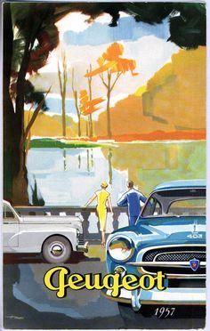 Pininfarina, Peugeot 403, introduced 1955. Poster 1957.