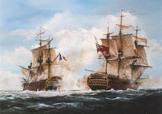 British and French 74 gun ships of the line during the time of the Napoleonic wars.