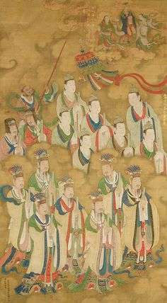 Star Deities of the Northern and Central Dippers. ink and colour on silk. Korean Painting, Chinese Painting, Ancient China, Ancient Art, Chinese Culture, Chinese Art, Buddha Painting, Buddhist Art, Art Institute Of Chicago