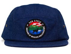 Division Of Wildlife Preservation 5 Panel Hat by SUN CYCLE NYC