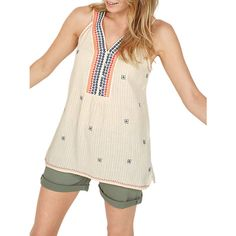 Buy Fat Face Patti Embroidered Cami, Stone, 6 Online at johnlewis.com