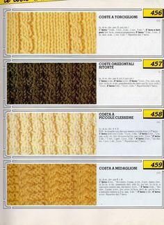 lo spazio di lilla  Collezione punti ai ferri 2   Knitting stitches  collection 2. Nunzia · Lavorare la lana con ... ec990bdc92fe