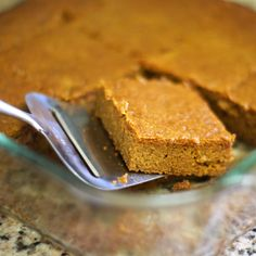 SCD Pumpkin Bars (*Use SCD legal pumpkin pie spice & SCD legal Honey Pecan Glaze DF for topping option...)