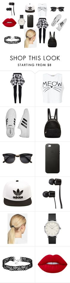 """""""Mall time! Random!🤔🤔😄😄"""" by ercarreira ❤ liked on Polyvore featuring Miss Selfridge, adidas, STELLA McCARTNEY, Vans, Mrs. President & Co. and Lime Crime"""