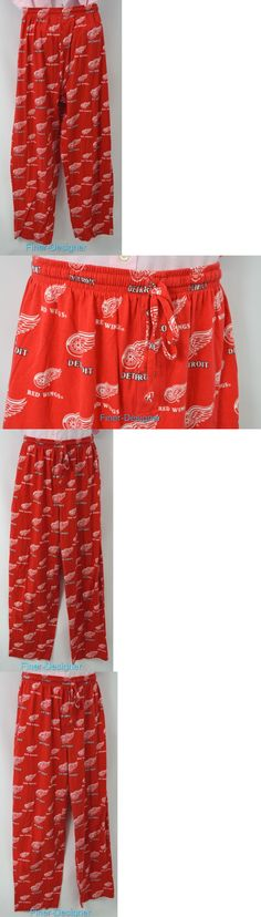 Other Hockey Clothing and Gear 165934: Detroit Red Wing T Shirt Pants Nhl Hockey Pjs Pajama Knit Pant Unisex Size L New -> BUY IT NOW ONLY: $39.95 on eBay!