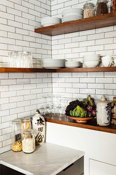 Mix & Match --- Not all the shelves need to tuck into the corner. Having…