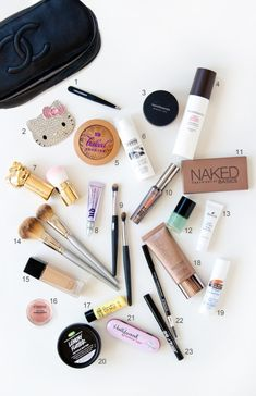 What's in my #makeup bag? Tons of awesome vegan, cruelty-free, gluten-free, natural brands!