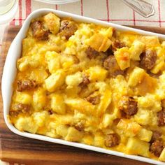 Sausage and Egg Casserole Recipe from Taste of Home -- shared by Gayle Grigg of Phoenix, Arizona