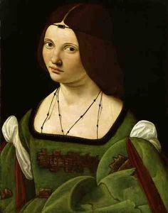 Giovanni Antonio Boltraffio (Italian High Renaissance painter, ca.1466-1516) Portrait of a Woman