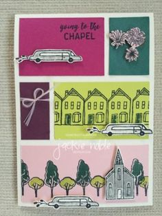 creativeJax aka Jackie Noble CASeing the Catty - CTC130 2017-2019 In Colors In the City Hostess set #stampinup #creativejax #weddingcard #handmadecards