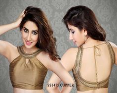 Copper Chanderi Fabric Saree Blouse http://rajasthanispecial.com/index.php/copper-chanderi-fabric-saree-blouse.html