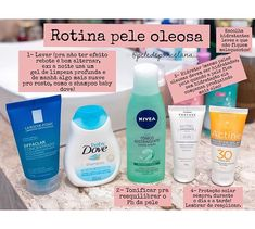 Vocês me pedem tanto sobre dicas pra montar uma rotina básica de cuidados inic. You ask me so much about tips for setting up a basic initial care routine that I decided to make a post! Beauty Care, Beauty Skin, Health And Beauty, Hair And Beauty, Skin Care Routine For Teens, Skin Routine, Skin Care Spa, Diy Skin Care, Facial Care