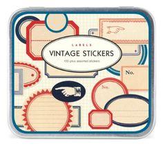 """Cavallini 100+ Assorted Vintage Label Stickers"" - $13.50 | Amazon.com"