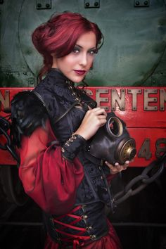 Steampunk color...  I truly wish I could pull off that hair color!