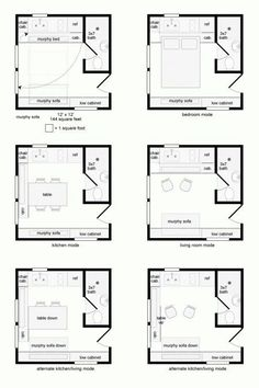 tiny house designs: 16' x 16' modules | petite plans | pinterest