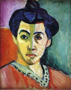 Matisse, Henri. Portrait of Madame Matisse (Green Stripe) 1905.