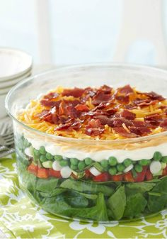 Seven-Layer Salad Made Over – This version of the potluck fave is better-for-you, but all seven layers of flavor are still in the Healthy Living recipe.