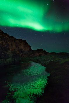 Green world, Aurora & Ice, Norway
