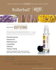 Essential oil roller bottle recipes to release fury -- I would only use drops of each essential oil. Doterra Essential Oils, Essential Oil Blends, Roller Bottle Recipes, Healing Oils, Doterra Oils, Doterra Blends, Perfume, Living Oils, Young Living