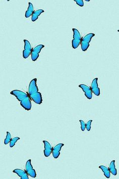 Blue aesthetic iphone wallpaper with butterfly vintage design Cute Tumblr Wallpaper, Funny Iphone Wallpaper, Macbook Wallpaper, Emoji Wallpaper, Iphone Background Wallpaper, Cute Disney Wallpaper, Aesthetic Iphone Wallpaper, Aesthetic Wallpapers, Phone Backgrounds
