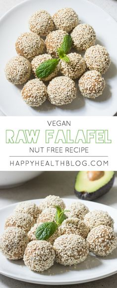Raw vegan nut-free falafel recipe - main dishes, nutfree recipes, raw recipes - Photo: Natalie Yonan