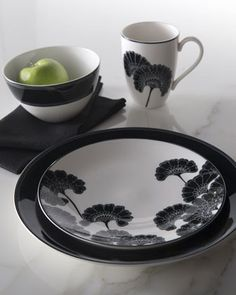 """""""Japanese Floral"""" Dinnerware, Four-Piece Place Setting by kate spade at Horchow."""
