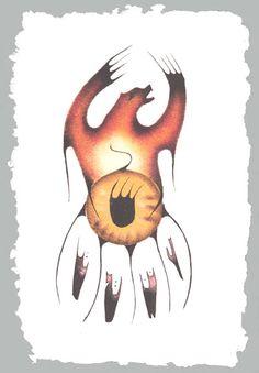 Bear Medicine Shield by Gary Meeches, E & A Studios, Jasper, Alberta kK Aboriginal Tattoo, Aboriginal Art, Native American Artists, Canadian Artists, Bear Totem, Modern Indian Art, Native Canadian, Watercolor Pictures, Bear Art
