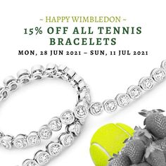 Happy #Wimbledon! To celebrate the exciting championships, we're offering a 15% #discount on all #TennisBracelets and #EmeraldJewellery on our website! Use code 'emerald15' at checkout and feel #glamorous this summer. - #diamonds #emeralds #jewellery #luxuryjewellery #emeraldring Bespoke Jewellery, Luxury Jewelry, Jewelry Making, Wimbledon, Emeralds, Bracelets, Diamonds, Website, Happy