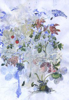 """Saatchi Online Artist: Violet Frances Cato; Paper, 2012, Assemblage / Collage """"Rosa"""" #art"""