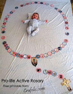 Pro-Life Active Rosary ~ A craft, activity and prayer | Catholic Inspired