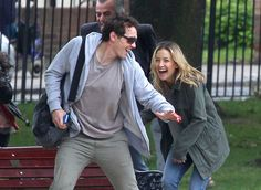 James Franco and Kate Hudson on set of Good People in London.